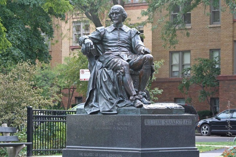 William Shakespeare statue in Lincoln Park, Chicago - William Ordway Partridge, 1893