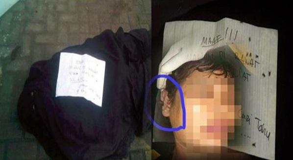 Mayat wanita berpurdah & nota pelik ditemui dihadapan masjid