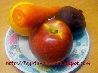 Πολυβιταμινούχος αντιοξειδωτικός χυμός μήλο παντζάρι και καρότο - από «Τα φαγητά της γιαγιάς»