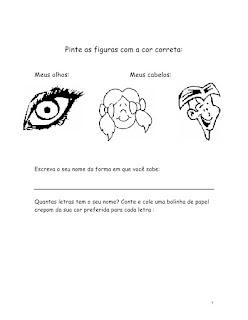 projeto identidade educação infantil