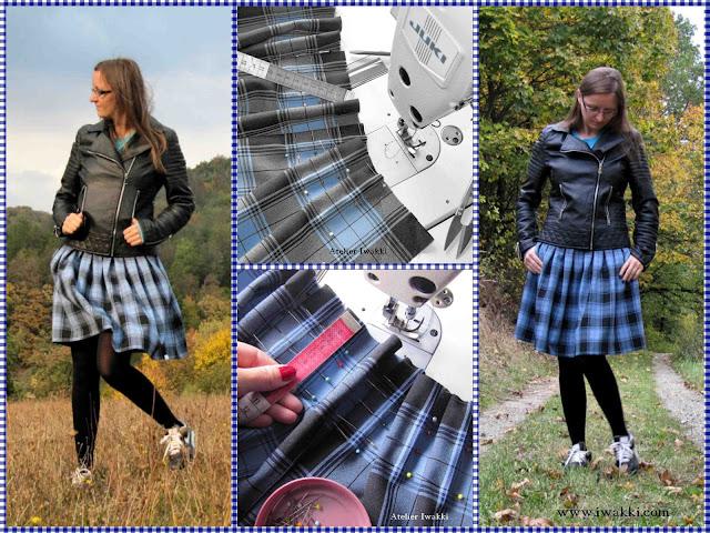 Kraciasta spódniczka na jesień