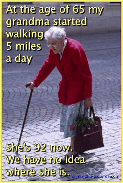 You Funny Lady Meme : Walking grandma missing meme funny joke pictures