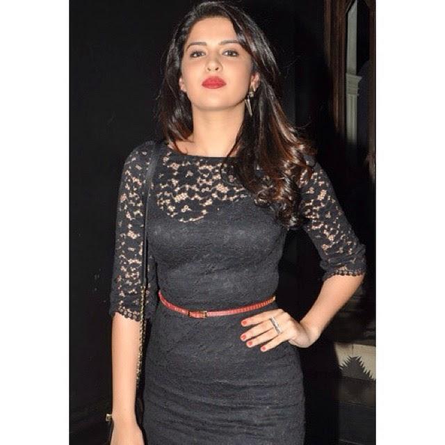 every celebrities have awesome lipsticks 😘💄💄 deeksha , deeksha seth , black dress , bolly , bolly ,wood party ,, Deeksha Seth Latest Hot Pics