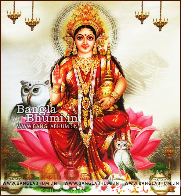 Maa Laxmi Goddess of money bengali style Indian God HD Poster Wallpaper