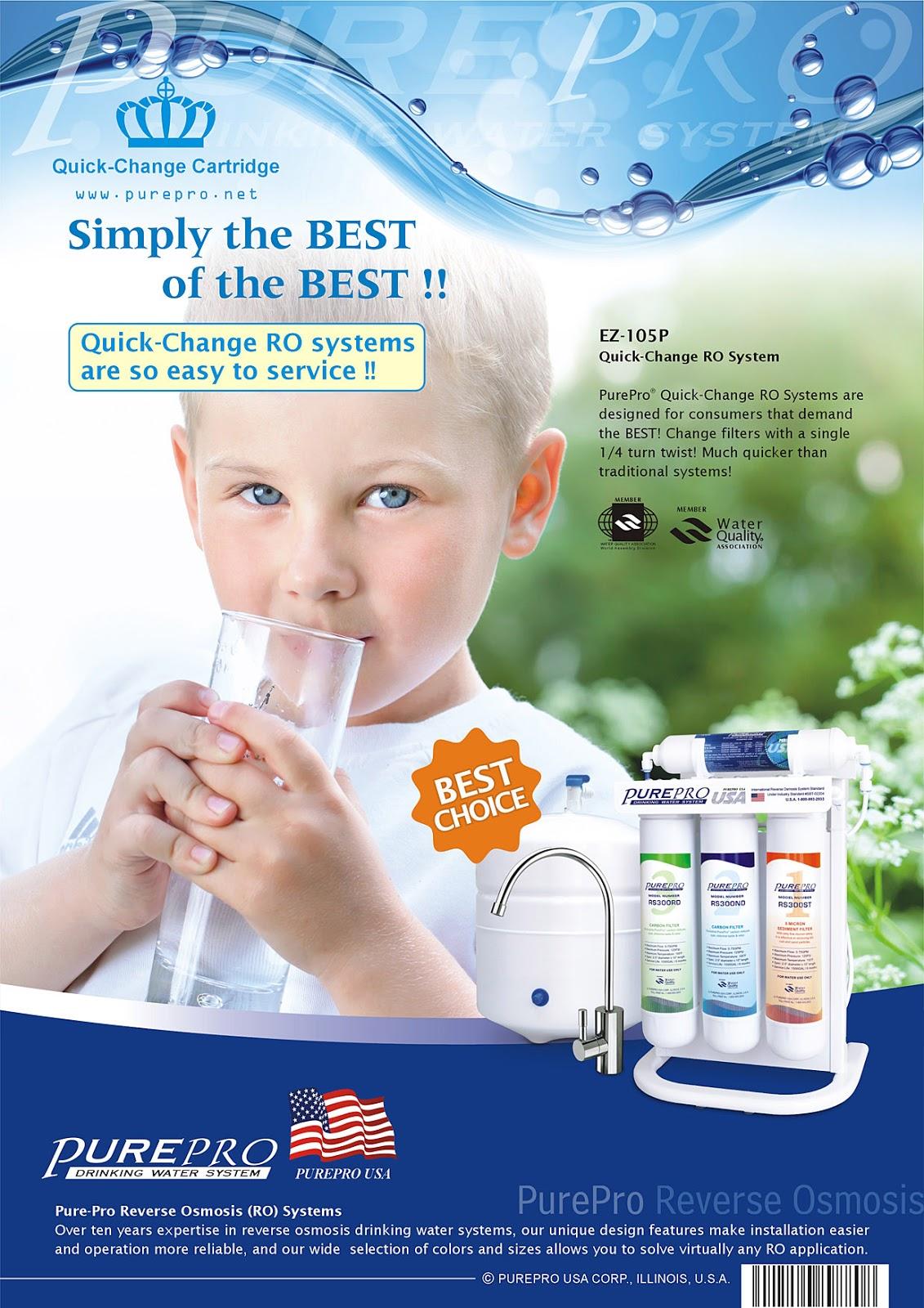 十大最佳RO逆滲透淨水器之一 :   美國 PurePro® 2020年專業評論指南- 推薦機型