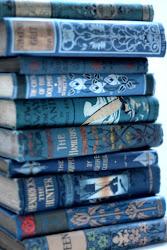 books antique ravenclaw azul indigo bookshop aesthetic bibliophile pastel feathers bookshelf 19th century antiquarian hand library jean antigos livros bindings