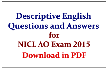 List of Descriptive English Questions and Answers
