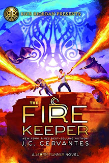 Book cover, 'The Fire Keeper' by J.C. Cervantes