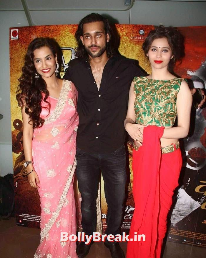 Tia Bajpai, Akhil Kapur, Sasha Agha, Tia Bajpai in Pink Saree - 'Desi Kattey' Movie Actress hot Pics