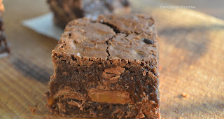 http://www.redcottagechronicles.com/baking/triple-chocolate-caramel-brownies/