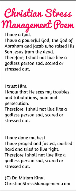 Christian stress management poem