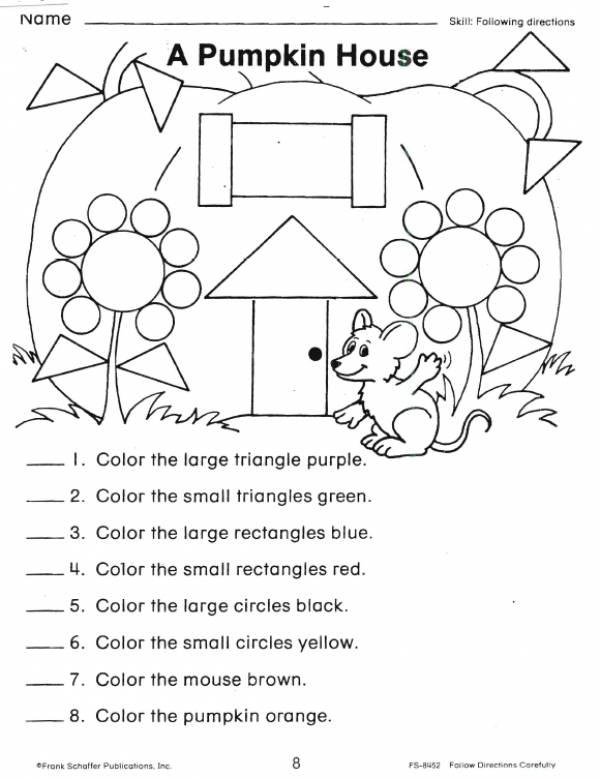 A Pumpkin House Shape Worksheet