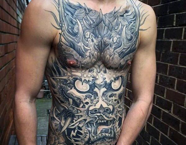 Stomach Tattoo, Amazing Tattoo, Tattoo For Men