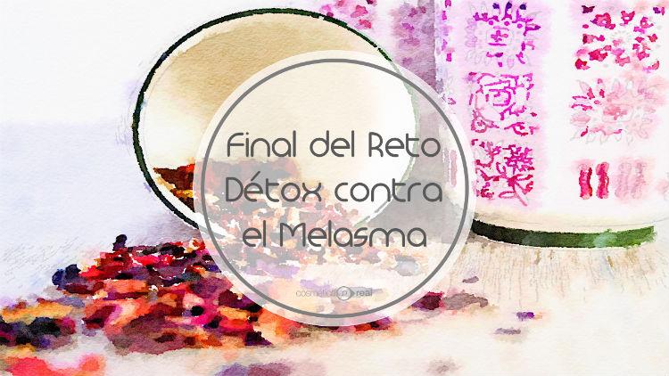 Final del reto detox contra el melasma