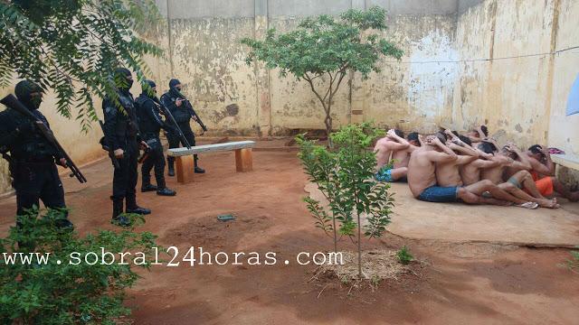 AGENTES PENITENCIÁRIOS REALIZAM VISTORIA NAS CADEIAS PÚBLICAS DE MUCAMBO E SÃO BENEDITO