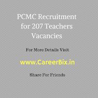 PCMC Recruitment for 207 Teachers Vacancies