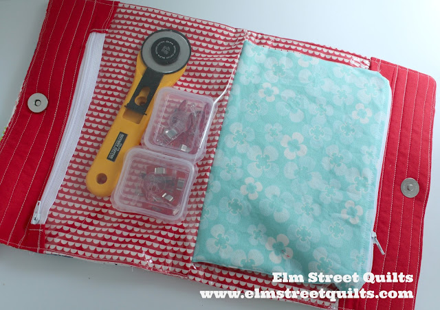 Elm Street Quilts Sew Travel Bag tutorial