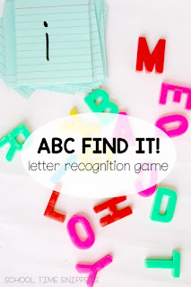 Letter I SPY Preschool Game