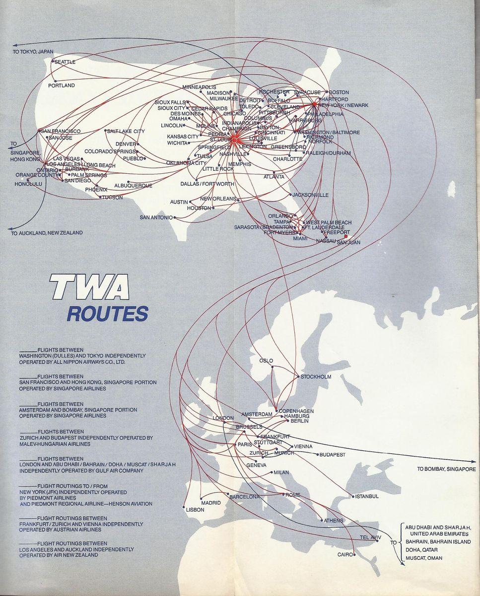Airline memorabilia: TWA (1988/1989, 1989)