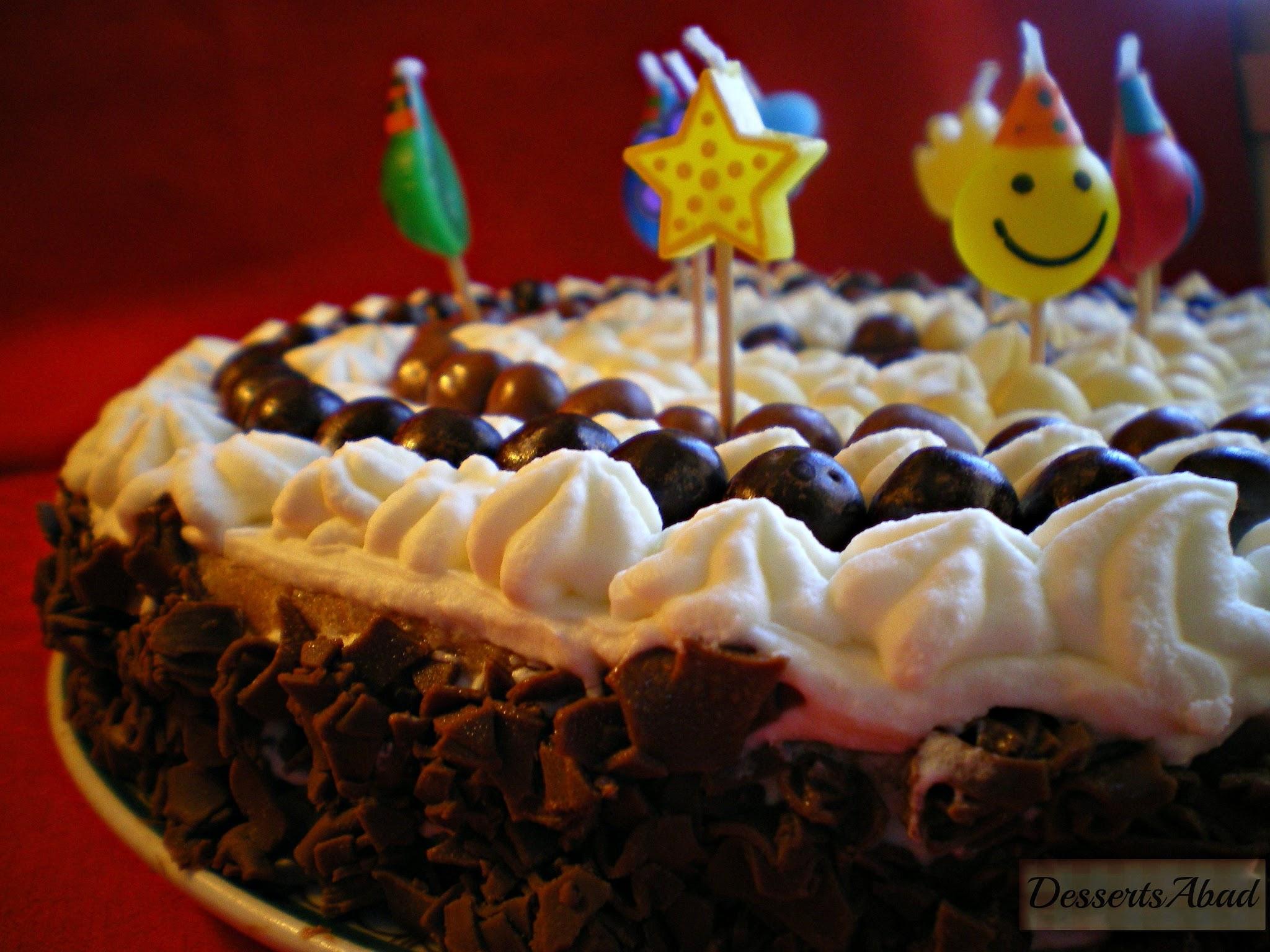 Tarta de nata y mousse de chocolate