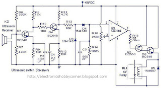 ELECTRONICS HOBBY CIRCUITS FOR BEGINNER'S: Ultrasonic switch