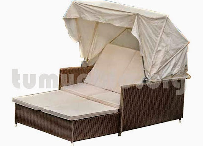 sofa cama chill out en rattan sintetico 6073