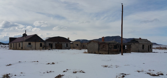Abandoned buildings of Ludlow, Colorado Ghost Town