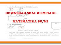 Download Soal Olimpiade Matematika SD/MI Terbaru