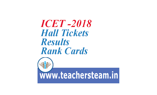 ICET-2018 Hall Tickets Results Rank Cards
