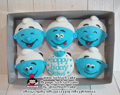 Cupcake Fondant 2D Smurft