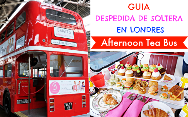 afternoon tea bus - guia despedida soltera londres