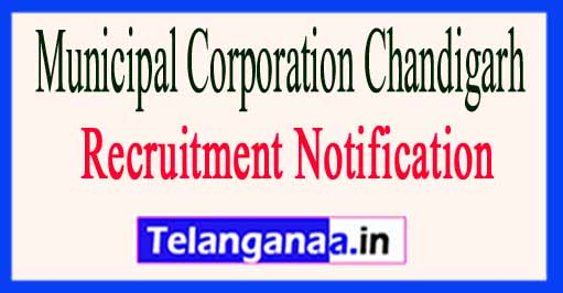 Municipal Corporation Chandigarh Recruitment Notification 2017