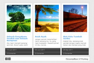 Tiện ích bài mới dạng SlideShow automatic Kiểu 4