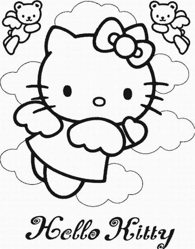 Hello Kitty Angel Coloring Pages widescreen