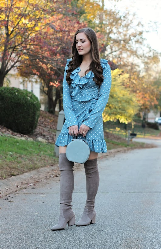 Blue Ruffled Dress