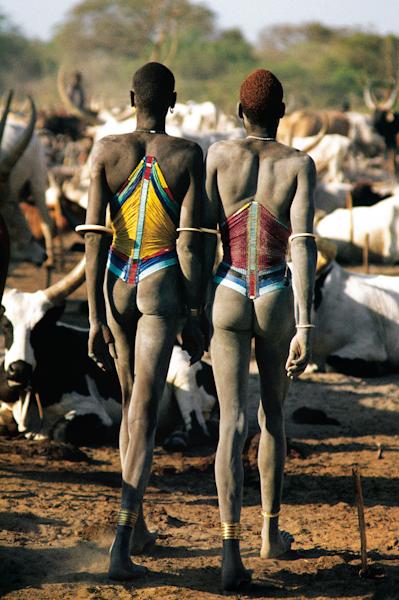 世界一背の高い民族ディンカ族。人間の進化した姿?【c】