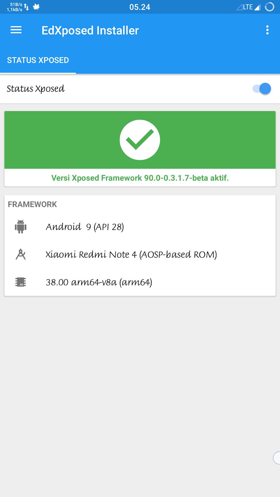 mrghonie-cara-install-xposed-xiaomi-pie