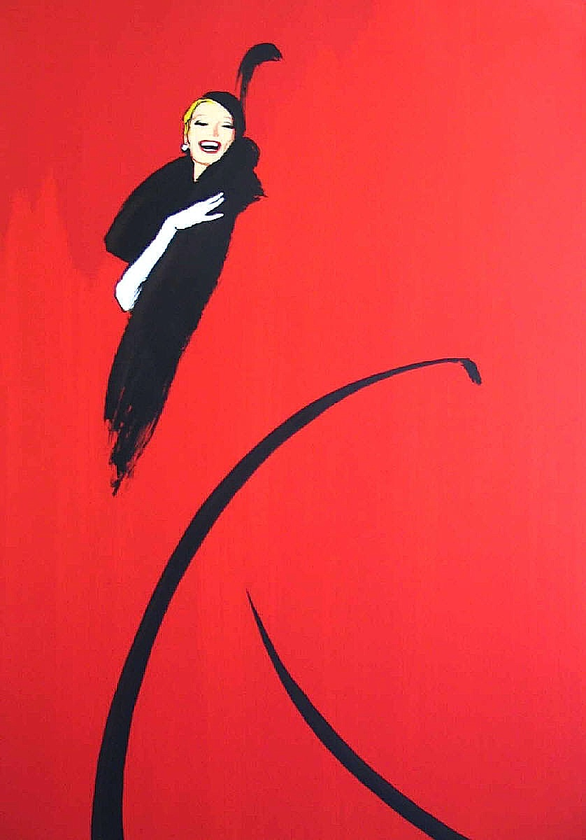 Rene Gruau illustration in red