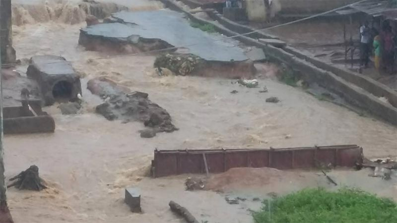 Photos: Streets in Ikotun, Lagos battered by heavy floods