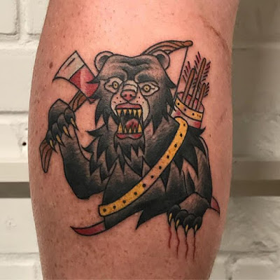 black bear tribal tattoo