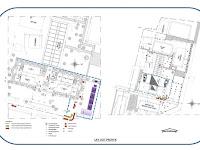 Jalur Lalulintas Proyek, Evakuasi dan Lay out