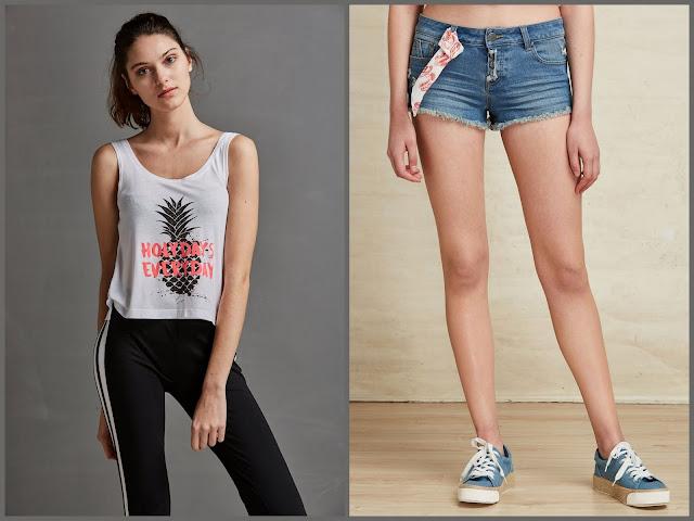 Shorts y camisetas