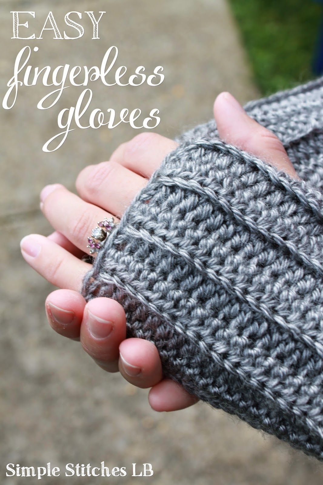 Simple Stitches Free Pattern Easy Ribbed Fingerless Gloves