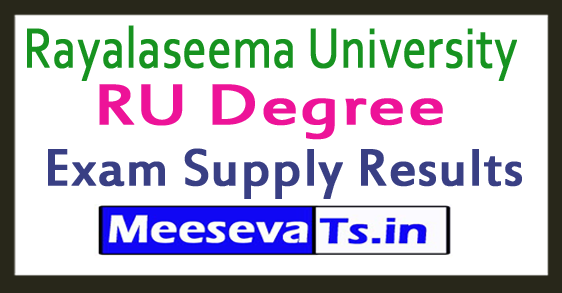 Rayalaseema University RU Degree Exam Supply Results