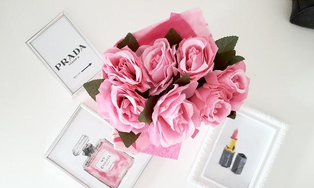DIY - róże w torebce