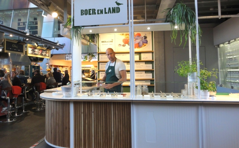 Friesland Campina boerenland yoghurt bar markthal rotterdam netherlands