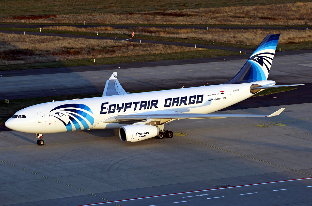 EgyptAir Cargo Airbus A330-200 While Taxiing Runway