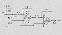MICROPHONE CONDENSER PRE AMPLIFIER CIRCUIT SCHEMATIC