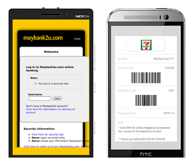 MOLPay Mobile XDK: integration with Maybank2u and 7-eleven