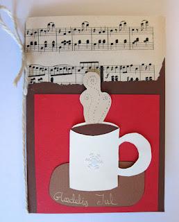 DIY kort med kaffe